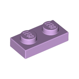LEGO 6099190 PLATE 1X2 - LAVENDER lego-6099190-plate-1x2-lavender ici :