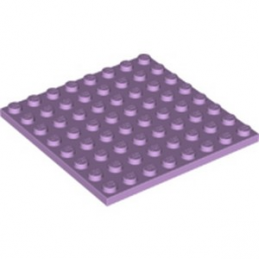 LEGO 6251627 PLATE 8X8 - LAVENDER lego-6251627-plate-8x8-lavender ici :