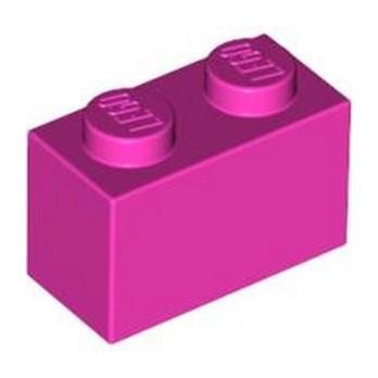 LEGO 4621545 BRIQUE 1X2 - ROSE lego-4621545-brique-1x2-rose ici :
