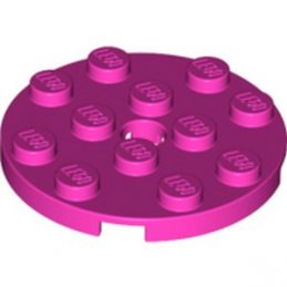 LEGO 6133808 PLATE ROND 4X4 - ROSE lego-6133808-plate-rond-4x4-rose ici :