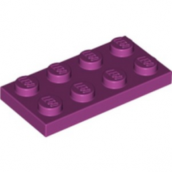 LEGO 6037658 PLATE 2X4 -  MAGENTA lego-6037658-plate-2x4-magenta ici :