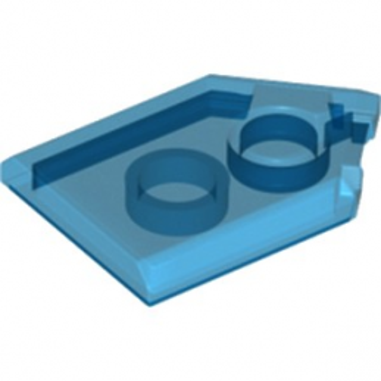 LEGO 6245242 FLAT TILE2X3 W/ANGLE  - BLEU FONCE TRANSPARENT