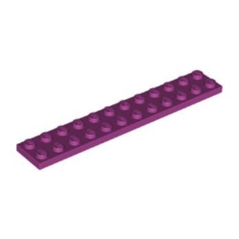 LEGO 6093863 PLATE 2X12 - MAGENTA lego-6093863-plate-2x12-magenta ici :
