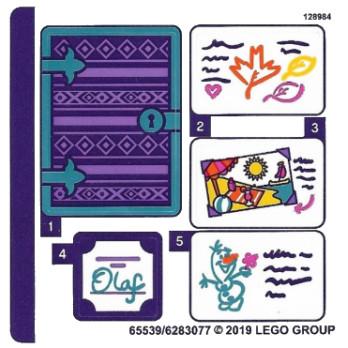 Stickers / Autocollant Lego  Disney - 41169