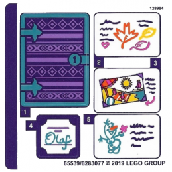 Stickers / Autocollant Lego  Disney - 41169 stickers-autocollant-lego-disney-41169 ici :