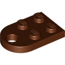 LEGO 6172636 COUPLING PLATE 2X2  - REDDISH BROWN