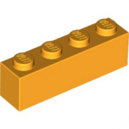 LEGO 6003004 BRIQUE 1X4 - FLAME YELLOWISH ORANGE