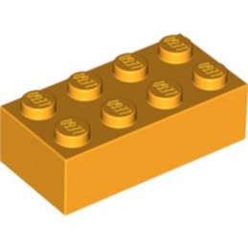 LEGO 4229356 - BRIQUE 2X4 - FLAME YELLOWISH ORANGE