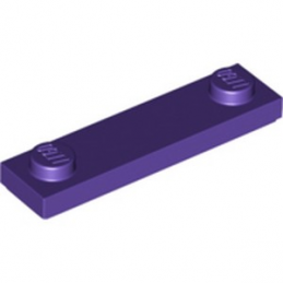LEGO 6185993 PLATE 1X4 W. 2 KNOBS - MEDIUM LILAC
