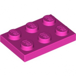 LEGO 6060801  PLATE 2X3 - ROSE