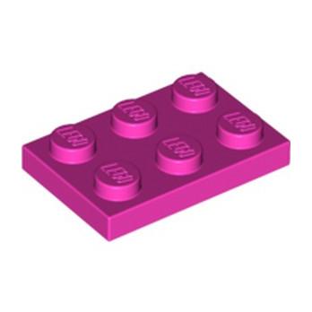 LEGO 6060801  PLATE 2X3 - ROSE lego-6060801-plate-2x3-rose ici :