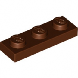 LEGO 4211152 PLATE 1X3 - REDDISH BROWN lego-4211152-plate-1x3-reddish-brown ici :