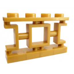 LEGO 6195089 BALUSTRADE 1X4X2 - WARM GOLD lego-6195089-balustrade-1x4x2-warm-gold ici :