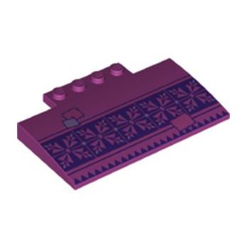 LEGO 6274719 RAMPE 4X8X6 IMPRIME - MAGENTA