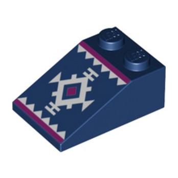 LEGO 6274727 TUILE 2X3/25° IMPRIME - EARTH BLUE