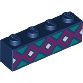 LEGO 6273368 BRIQUE 1X4 IMPRIME - EARTH BLUE