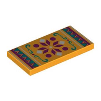 LEGO 6282189 PLAQUE 2X4 IMPRIME - FLAME YELLOWISH ORANGE lego-6282189-plaque-2x4-imprime-flame-yellowish-orange ici :