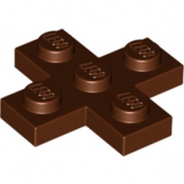 LEGO 6050918 CROIX PLATE 3x3  - REDDISH BROWN lego-6050918-croix-plate-3x3-reddish-brown ici :