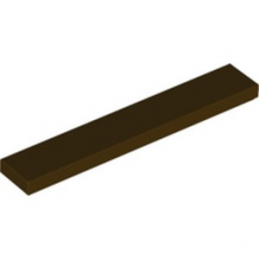 LEGO 6295366 PLATE LISSE 1X6 - DARK BROWN
