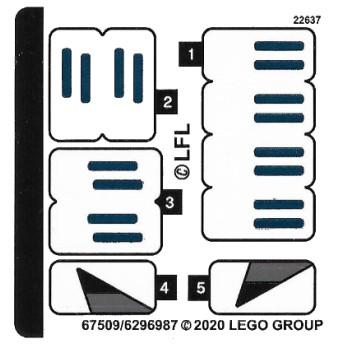 Stickers / Autocollant Lego Star wars 75276