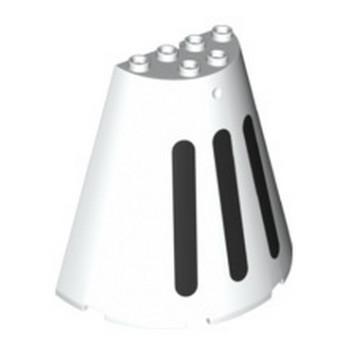 LEGO 6300131 DEMIE CONE 8X4X6 - BLANC IMPRIME lego-6300131-demie-cone-8x4x6-blanc-imprime ici :