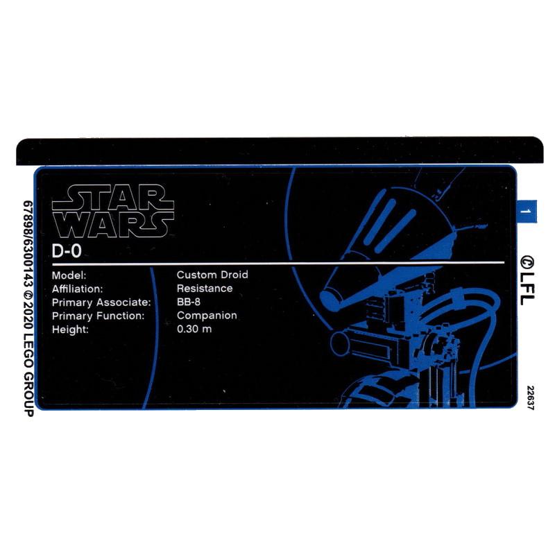 Stickers / Autocollant Lego Star wars 75278
