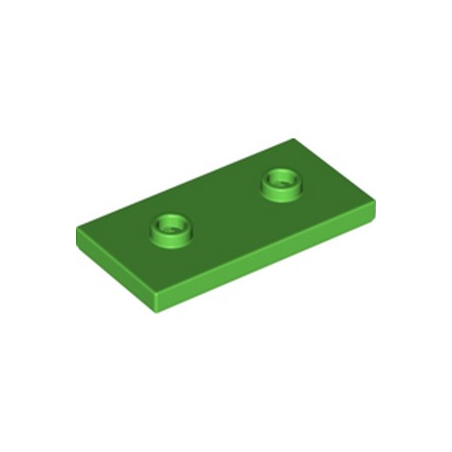 LEGO 6293826 PLATE LISSE 2X4 + TET - BRIGHT GREEN