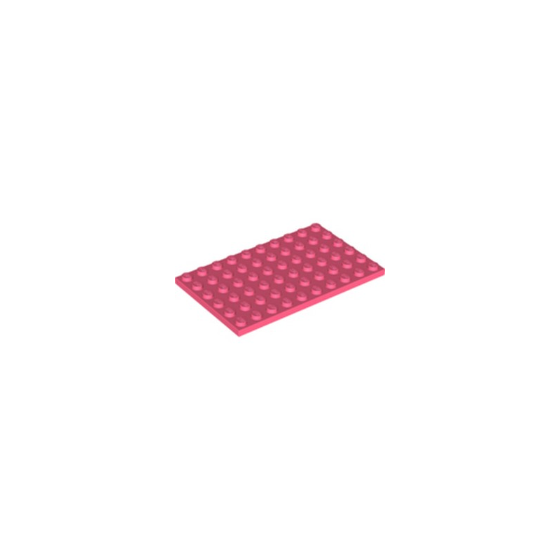 LEGO 6300587 PLATE 6X10 - CORAL