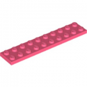 LEGO 6300590 PLATE 2X10 - CORAL