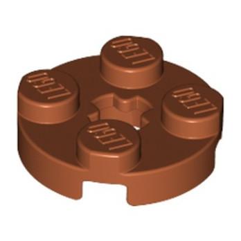 LEGO 4616027  PLATE 2X2 ROND - DARK ORANGE lego-4616027-plate-2x2-rond-dark-orange ici :