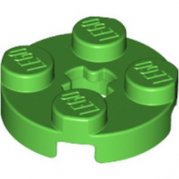 LEGO 4114430  PLATE 2X2 ROND - BRIGHT GREEN