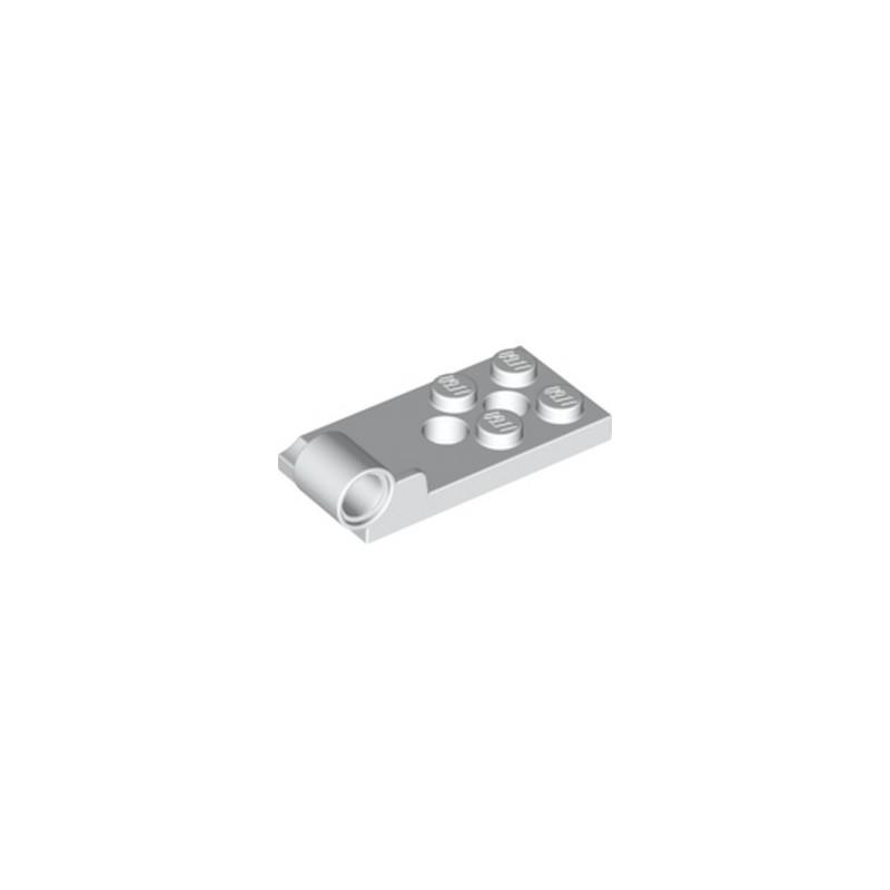 LEGO 6304887 PLATE BOT. 2X4 W. ø4.85 - BLANC