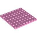 LEGO 6252554 PLATE 8X8 - ROSE CLAIR
