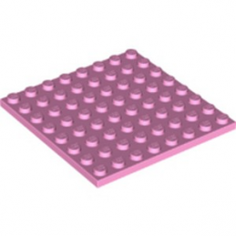 LEGO 6252554 PLATE 8X8 - ROSE CLAIR