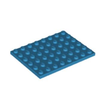 LEGO 6301450 PLATE 6X8 - DARK AZUR lego-6301450-plate-6x8-dark-azur ici :