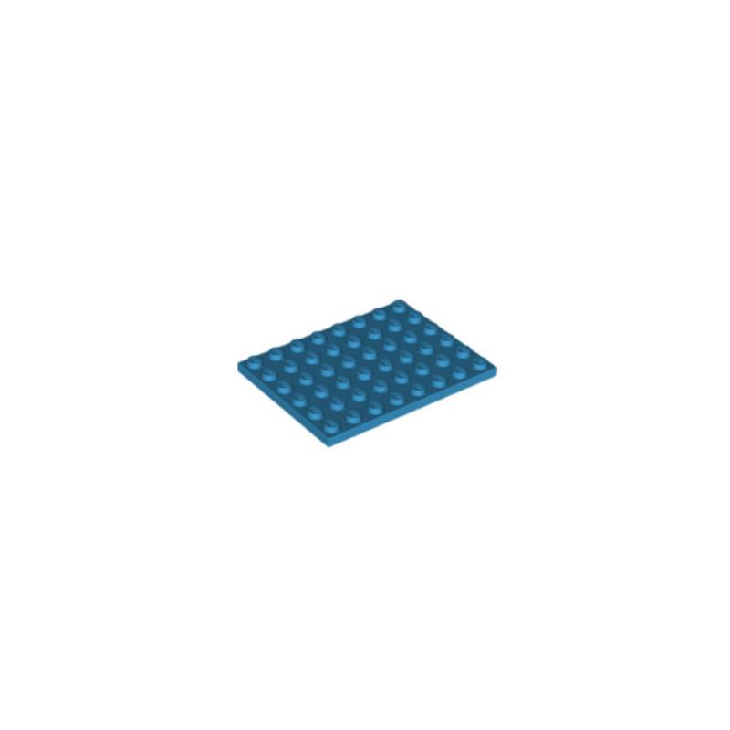 LEGO 6301450 PLATE 6X8 - DARK AZUR