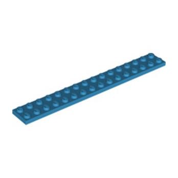 LEGO 6249123 PLATE 2X16 - DARK AZUR lego-6249123-plate-2x16-dark-azur ici :