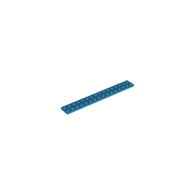 LEGO 6249123 PLATE 2X16 - DARK AZUR