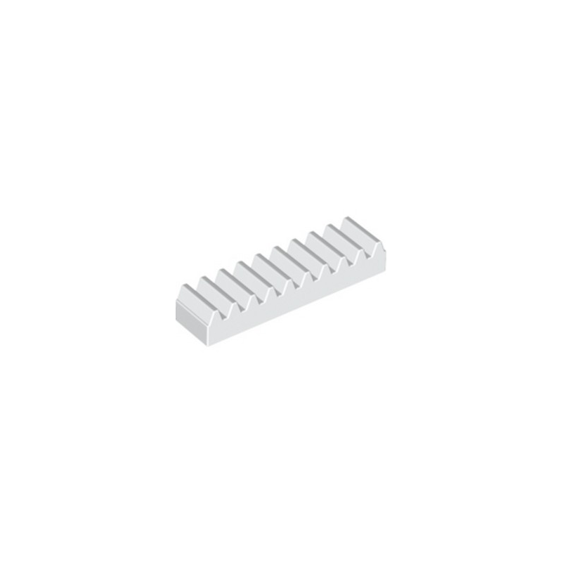 LEGO 4250465 TOOTHED BAR M1, Z10 - BLANC