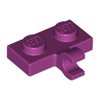 LEGO 6135604 PLATE 1X2 W. 1 HORIZONTAL SNAP - MAGENTA lego-6313117-plate-1x2-w-1-horizontal-snap-magenta ici :