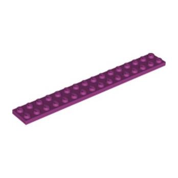 LEGO 6173062 PLATE 2X16 - MAGENTA lego-6173062-plate-2x16-magenta ici :