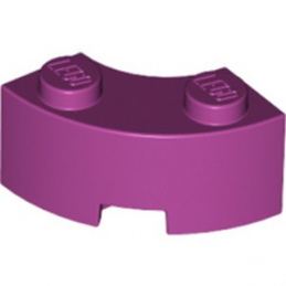 LEGO 6192035 BRIQUE 2X2W.INSIDE AND OUTS.BOW - MAGENTA