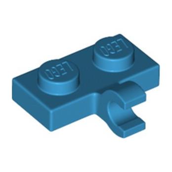 LEGO 6151674 PLATE 1X2 W. 1 HORIZONTAL SNAP - DARK AZUR lego-6313118-plate-1x2-w-1-horizontal-snap-dark-azur ici :