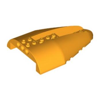 LEGO  6295961 HAUT FUSELAGE  AVION 8X12X2 - FLAME YELLOWISH ORANGE