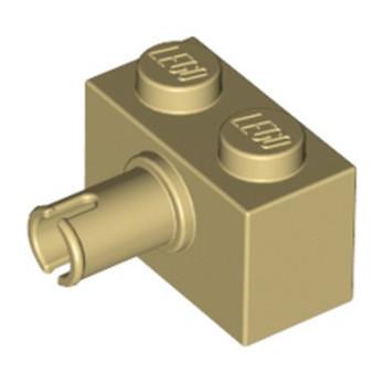 LEGO 245805 BRIQUE 1X2 W. HORIZONTAL SNAP - BEIGE