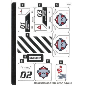 Stickers / Autocollant Lego City 60265