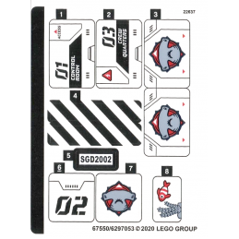 Stickers / Autocollant Lego City 60265 stickers-autocollant-lego-city-60265 ici :