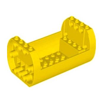 LEGO 6308422 SHELL 6X10X4 1/3, OUTSIDE BOW - JAUNE