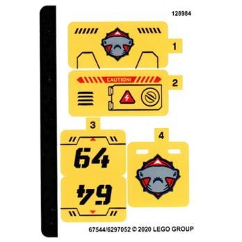 Stickers / Autocollant Lego City 60264