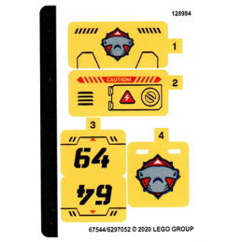 Stickers / Autocollant Lego City 60264 stickers-autocollant-lego-city-60264 ici :